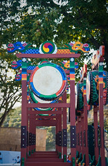Hahoe Drums 1 (sunxez) Tags: old camp ancient village country korea historic tradition hahoe corea poble andong  coreadelsud