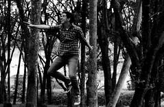 Voando / Flying 3 (LorenzoSacchiPadovano) Tags: trees brazil blackandwhite bw man me smile brasil canon garden fly flying woods saopaulo levitation ibiuna veleiros manflying manlevitating