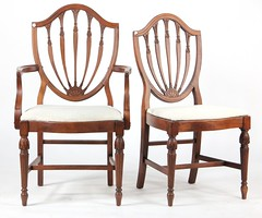 34. Pair of Hepplewhite style Shield Back Chairs