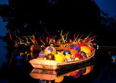 Chihuly Glass Boat (squint photo) Tags: nightphotography sculpture chihuly glass photography dallas texas nighttime dallasarboretum fineartphotography whiterocklake glassart nikond80 sonjaquintero squintphotography