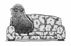 Sofa spud (Don Moyer) Tags: moleskine ink notebook sketch drawing couch sofa potato doodle davenport moyer brushpen spud donmoyer