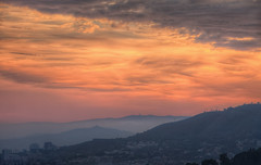 The Hills of Barcelona (TheFella) Tags: barcelona park city travel pink sunset red sky mist mountain mountains slr misty fog skyline clouds digital photoshop canon buildings landscape eos photo high spain europe cityscape purple cross dynamic cloudy dusk fineart hill capital foggy peak catalonia hills lilac photograph processing gaud 5d layers catalunya dslr range parc hdr highdynamicrange cloudscape catalua mkii gell markii parcgell parkgell postprocessing antonigaud travelphotography photomatix catalonha thefella 5dmarkii conormacneill thefellaphotography