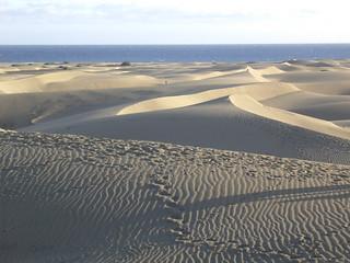 Gran Canaria , Duna de Maspalomas , wie Eisberge , 2-35/1581