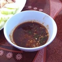 น้ำจิ้มข้าวมันไก่ | Chicken Rice Dipping Sauce @ ข้าวมันไก่นันทาราม | Nantaram Chicken Rice