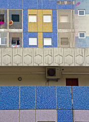 abstract proportions (lifeinapixel) Tags: blue windows abstract building wall architecture modern facade apartments mosaic wrong balconies proportions focal
