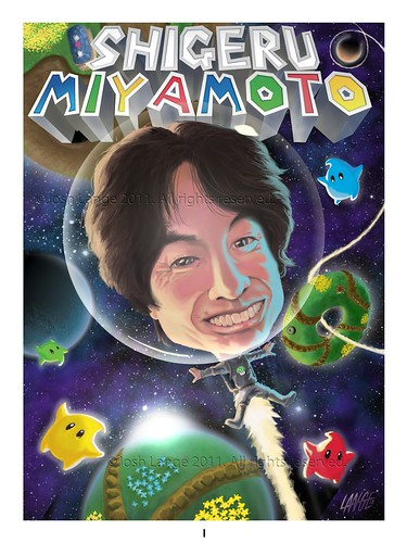 Shigeru Miyamoto, obra de Josh Lange