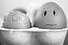 pancake victim... (ggcphoto) Tags: color horizontal pancakes 50mm sad fear eggs brokeneggs sonyalpha sixeggs gettyimagesirelandq12012 yahoo:yourpictures=yourbestphotoof2012