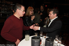 Rick Green samples some Highland Park whisky (@KellyJean247) Tags: canada beer festival vancouver marion spirits whisky kelly hopscotch steakhouse gothams whiteowl adambloch