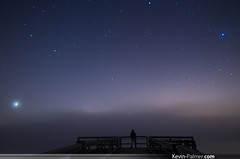 The Edge of the World (kevin-palmer) Tags: morning autumn sky mist selfportrait fall silhouette fog wisconsin night stars shower pier early dock october brighton venus pentax space foggy astrophotography planet astronomy meteor kx kenoshacounty samyang earthandspace syrius bongstaterecreationarea orionid Astrometrydotnet:status=failed peopleandspace bower14mmf28 Astrometrydotnet:id=alpha20121092358880 competition:astrophoto=2013