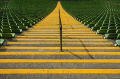 yellow lines (picture 4B) Tags: green colors yellow germany mnchen bayern deutschland perspective gelb olympia grn olympicstadium perspektive farben olympiastadion weitwinkel symetrie symmetrie sonya77 mygearandme mygearandmepremium mygearandmebronze mygearandmesilver mygearandmegold sonya77v