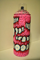 Custom Spraycan #5 (Marcos D. Torres) Tags: street new york horse food ny eye art up wall last tooth painting skull graffiti hotdog cool artwork eyes melting montana acrylic hand arte faces yeah drawing fat teeth small phillips knife fast jim run canvas pizza cap 94 skate angry thief skateboard mtn melt worm burguer worms aerosol screaming shape bomb 80 emotions marcos pupil throw pintura sk8 krylon feelings spraycan torres throwup wildstyle molotow bronken ironlak hotdo sgima sabotaz