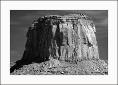 Monument Valley, USA - Infrared to B&W (troubledog) Tags: bw ir nikon d70s infrared d70sir tamron180mmf35