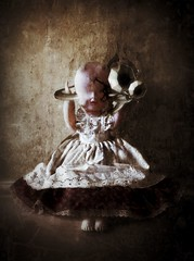 The Hunger of Patience #iph100 #iphoneography #mobilephotography (Benamon Tame Photography) Tags: art toy doll child surreal horror iphone toyroom eartrumpet iphoneart iphoneography iphoneonly