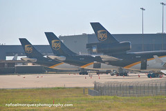 UPS Ramp At DFW Airport (Rafael Marquez Photography) Tags: ups airbus dfw md11 a300 foundersplaza n254up airbusa300f n121up n134up