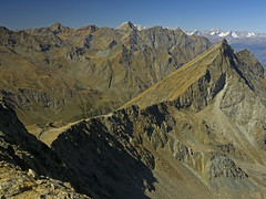 054 - monte Bianco is behind the wall (TFRARUG) Tags: mountain lake alps cross hike aosta ibex avic dondena