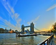 sunset on the london tower bridge (Rex Montalban Photography) Tags: greatbritain bridge sunset england london towerbridge europe unitedkingdom sigma wideangle hdr towerhill 10mm photomatix 12exp longrays undistort rexmontalbanphotography pse9 photoshopelements9