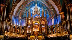 Disney Worship (campra) Tags: blue canada gold heaven montreal basilica altar neogothic