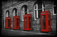 Fourgotten (Explore #10) (JazzSP8) Tags: red telephone blackpool telephonebox telephonebooth selectivecolour nikond60