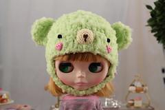 Bear Helmet for Blythe