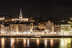 Zurich at night (marianyka) Tags: night photography switzerland noche suiza zurich panoramic fotografia reflexions fotologia photology marianyka marianabenavidez marianykacom