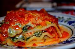 Lasagna (aewilson94) Tags: blue red food green vegetables yellow dinner healthy nikon colorful organic lasagna d5100