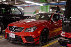 Mercedes Benz C63 AMG Black Series (R6PhgRPh) Tags: auto roof red black car boston sedan ma mercedes benz automobile doors wheels wing fast exotic badge trunk series limited edition rare supercar amg c63 worldcars
