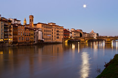 Arno River at Dawn (mikey baker) Tags: italy sunrise dawn florence europe firenze riverarno