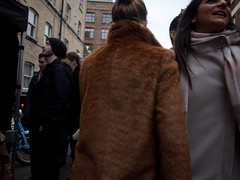 Girl in fur coat (blinkypalermo) Tags: street london fur coats eastlondon whitecross