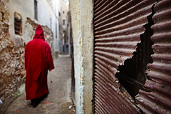 The narrow streets of Fes (Gilad Benari) Tags: street man art silhouette print poster different morocco fes gilad   giladbenari benari