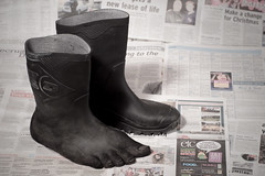 The Welly of Truth (Dom Walton) Tags: foot surreal magritte welly imagemanipulation dunlop wellingtonboot domwalton