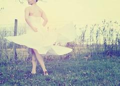 Dancer (SOMETHiNG MONUMENTAL) Tags: portrait white fall girl cemetery field dance movement nikon dress twirl somethingmonumental mandycrandell