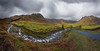 Kettle Crag & Redacre Gill (Langdale Panorama), Lake District (flatworldsedge) Tags: road england cloud lake rain clouds rocks stream day sheep cloudy farm district curves farming pass front rapids national rainy waterfalls valley cumbria fells trust bracken walls peaks curve gill crags cascade serpentine drystone langdales snaking herdwick redacre uploaded:by=flickrmobile flickriosapp:filter=nofilter yahoo:yourpictures=england2013 yahoo:yourpictures=curves