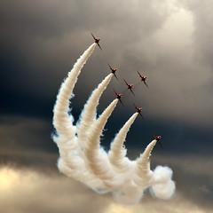 Out of the Gloom (10000 wishes) Tags: storm smoke flight formation airshow farnborough redarrows rafredarrows redarrowsdisplayteam bestcapturesaoi