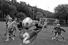 "Body Language_049 (jonwaz) Tags: blackandwhite bw blur game blancoynegro football europe sweden soccer gothenburg bodylanguage attitude match juniors footballmatch 2"" ""full back"" jonwaz potd:country=fr ""nr"