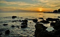 Sunset in Porec, Croatia (++NiklasPhotography++) Tags: sunset summer wasser waves sonnenuntergang stones sommer tide croatia steine 2012 porec wellen kroatien mittelmeer