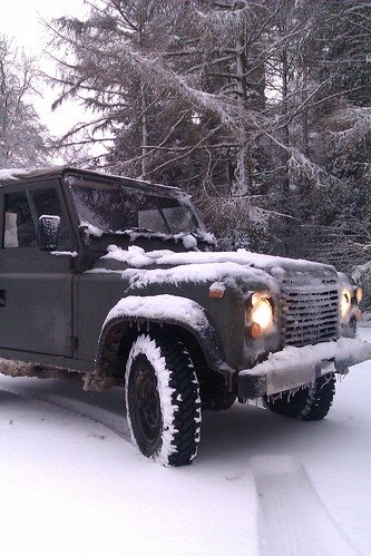 Land Rover in Snow & Ice