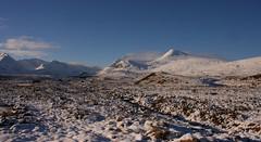 Rannoch Moor (Sybalan,) Tags: blue winter wild snow rural scotland skies sunny remote moor moorland rannoch