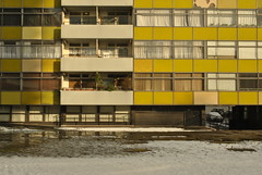 Golden Lane Estate, London, EC1 (J@ck!) Tags: snow london modernism barbican thaw towerblock ec1 goldenlaneestate socialhousing greatarthurhouse chamberlinpowellandbon