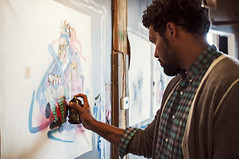 Hebru Brantley (jeremy pettis) Tags: chicago studio clothing gallery studios enstrumental hebrubrantley lacunalofts