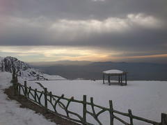 Beyond the imagination (Babak Habibi) Tags: cloud white mountain snow fence iran fencing tehran  alcove bower  tochal
