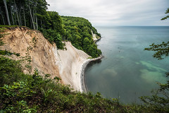 Jasmunds national park (Appe Plan) Tags: ocean park trees summer sky beach nature water beautiful clouds forest germany landscape outdoors chalk nikon view branches hike cliffs unesco rgen appe jasmund d700