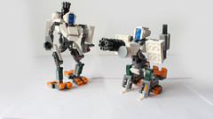 Bastion (with instructions and a cool video) (hachiroku24) Tags: lego robot bastion overwatch moc afol toy building