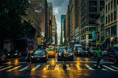 Rainy evening, Chelsea (Arutemu) Tags: america american a7r sonya7r ilcea7r ilce light urban usa us unitedstates nyc ny newyork newyorkcity chelsea evening nikon 50mm sony city cityscape ciudad citylights scene street                   manhattan