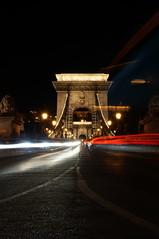 Szechenyi Lanchid Bridge (johannes woi) Tags: bridge brcke budapest ungarn donau danube night nacht langzeitbelichtung bewegung motion cars autos hungary sehenswrdigkeit poi