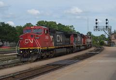 IC 2458 West, CN A43531-17 (Joseph Bishop) Tags: ic 2458 ge c408w cn cndundassubdivision brantford ontario trains train track tracks railfan railroad railway rail rails signals