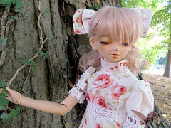 .:: Chantal ::. (Bunraku Doll) Tags: bjd doll resin volks superdollfie sd tan tanskin girl f51 kun sweetdream fcs     dreaming chantal jolie lalaurie pinkhair mueca puppe kunsweetdream