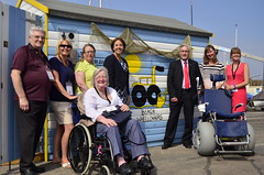 On a visit to North Berwick Beach Wheelchairs project with Kezia Dugdale