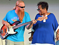 Blues Singer Jackie Scott and the Kilborn Alley Blues Band (forestforthetress) Tags: band gig concert stage festival music musician man woman singer song blues bluesmusic omot nikon frontstreetmusicfestival color photography face people