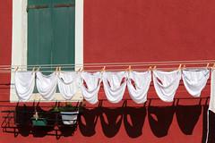 L'Italia in mutande (marco marescotti) Tags: italia italy mutande tricolore burano colori colors verde green rosso red bianco white veneto ombre shadows