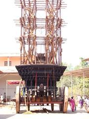 Temple car: Sri Mookambika temple, Kollur (5) (v s raam (on/off)) Tags: mookambika kollur udupi mangalore karnataka sakthi shakthi sakti shakti sankara sankaracharya shankaraycharya adi shankara sankaraycharya shankaracharya energy primodial ratha chariot rathotsava car templecar